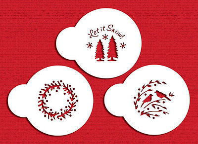 Designer Stencils: Let it snow stencils (set of 3)
