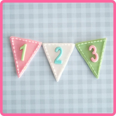 Katy Sue:  Number bunting silicone mould