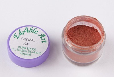 Edable Art gold dust - corla ice (red)