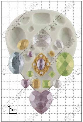 FPC Sugarcraft:  Multi gem silicone mould