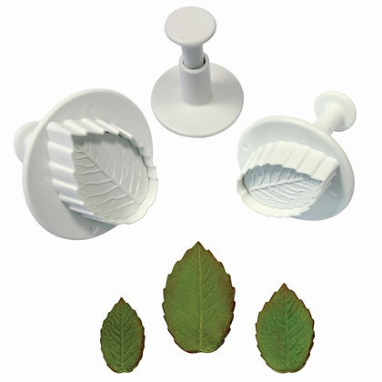 PME:  Veined rose leaf plunger cutters (set of 3)