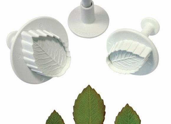PME:  Veined rose leaf plunger cutters (set of 3)