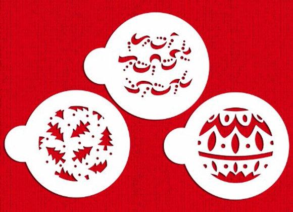 Designer Stencils:  Christmas balls stencils (set of 3)