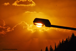 Sunset in a lamp