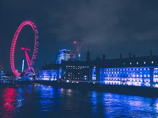 London Eye at night. 2019