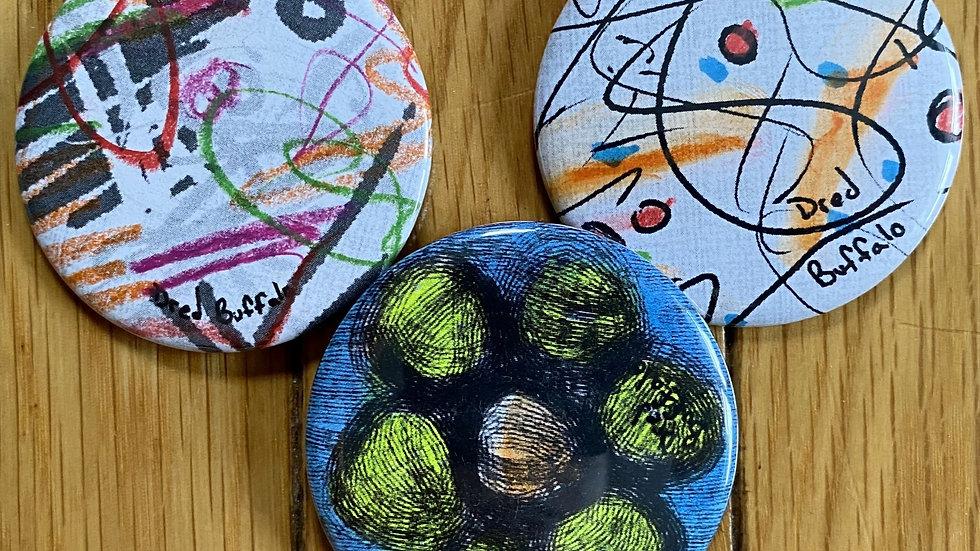 Brian Huntress Art Pins