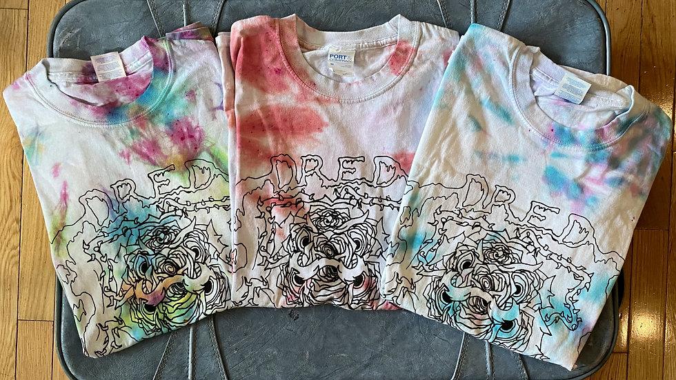 Tie-dye Dragon Rose T-shirts