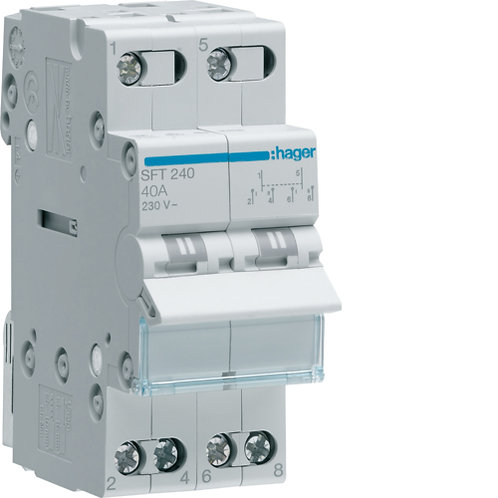 HAGER 40A CHANGEOVER SWITCH