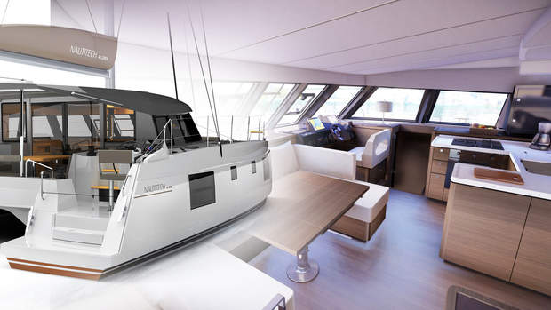 NAUTITECH 46 OPEN - EXTERIOR AND INTERIOR RENDERS