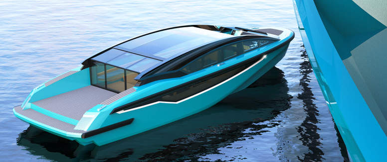 ELECTRIC YACHT TENDER 10M  - EXTERIOR DESIGN