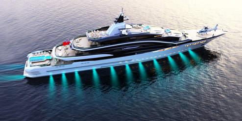 110m Megayacht Wallet Concept - EXTERIOR DESIGN