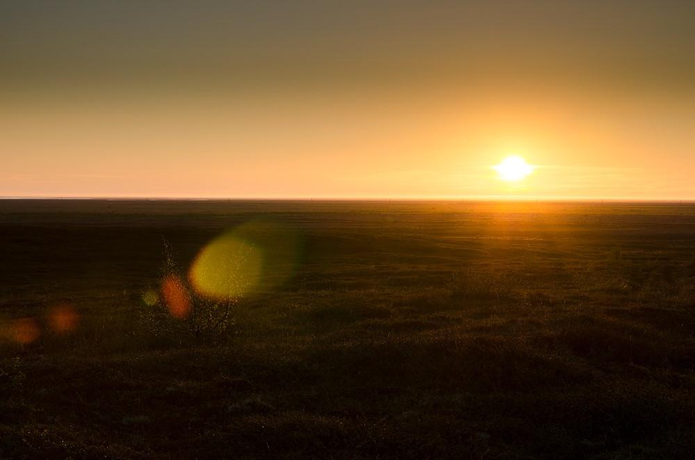 Půlnoční slunce - Ásbyrgi 2015