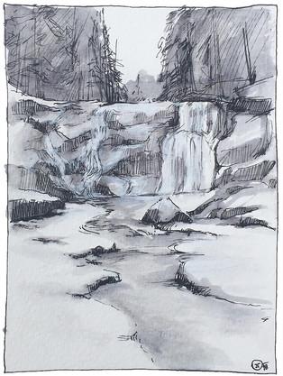 Mumlava waterfalls in Krkonoše mountains
