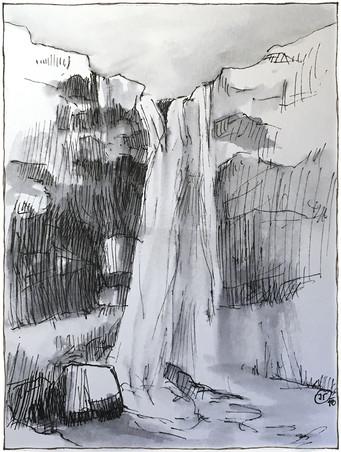 Hiden waterfall by The Skogar