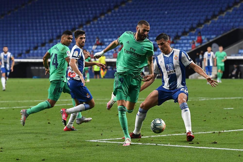 Real Madrid Benzema backheel pass vs Espanyol