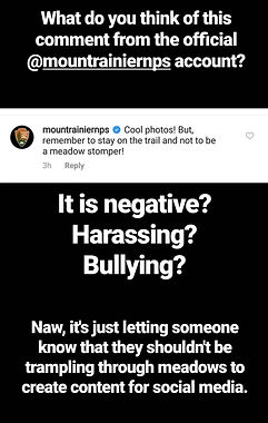 social media public lands bullying callout