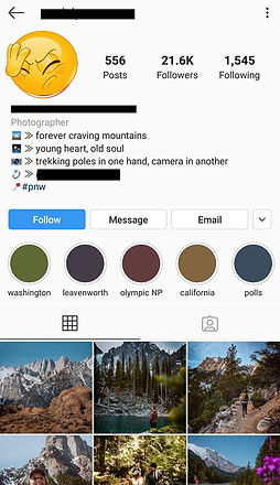 Outdoor Influencer Instagram Account