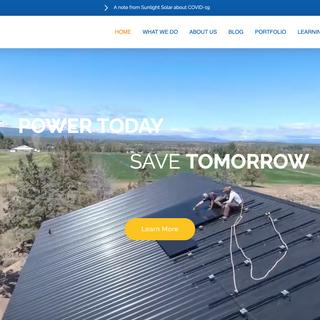 Website Design | Sunlight Solar