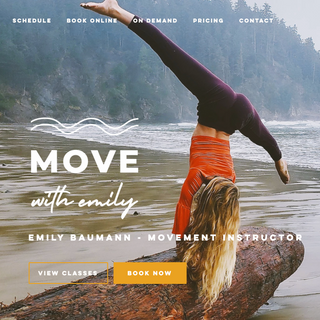 Website Design | Move With Emily
