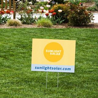 Yard Signs | Sunlight Solar