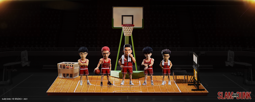 YZ Studio Slam Dunk Shohoku High School Team and Court