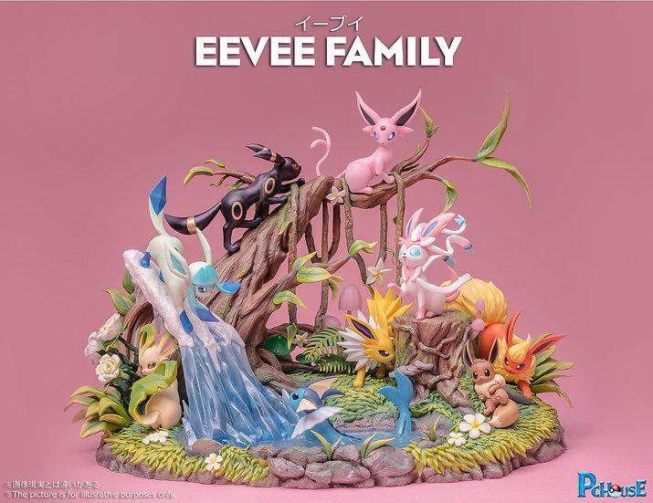 PC Studio Pokemon Wonderland Eevee Family