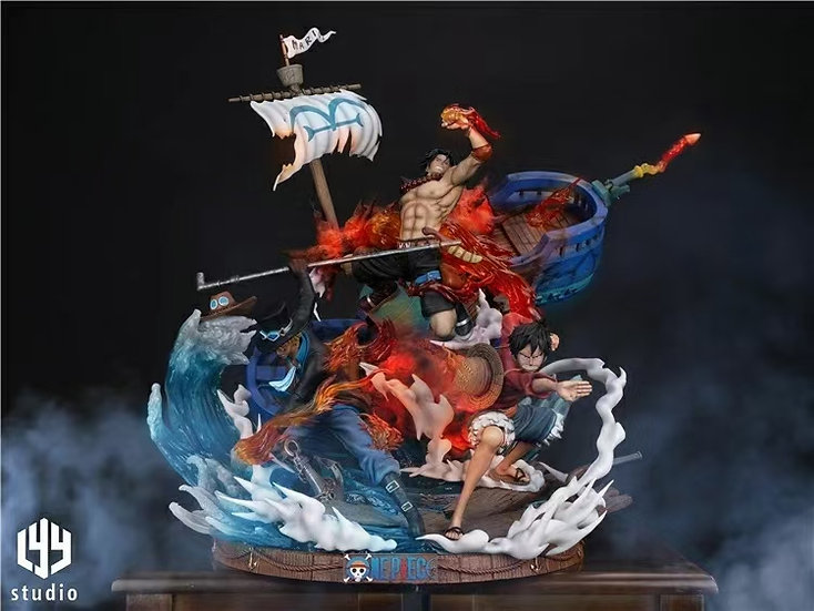 LYY Studio One Piece Brotherhood Luffy Ace & Sabo