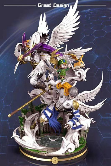 GD Studio Digimon Evolution Series Angemon to HolyAngemon