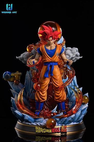 Wonder Art Studio - Dragon Ball Super Saiyan God Form Son Goku