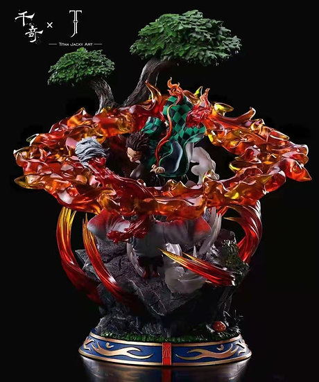 Qian Qi X TJA Studio - Demon Slayer Kamado Tanjiro vs Lower Rank 5 Rui