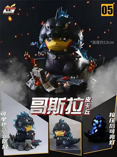 Stone Studio - Pikachu cosplay Godzilla