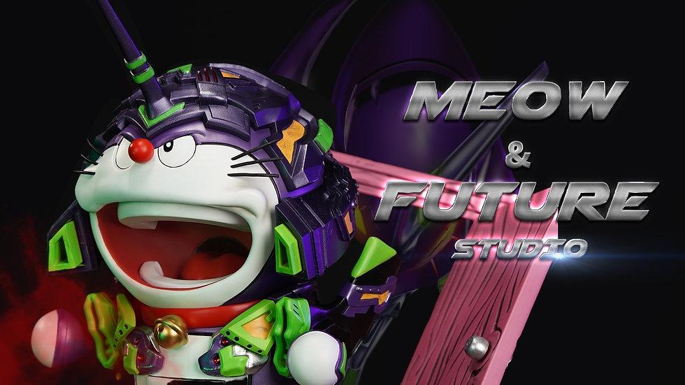 Meow Studio X Future Studio - Doraemon cosplay Evangelion Unit 01