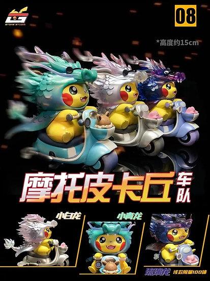 Stone Studio - Pokémon Pikachu riding motorcycle