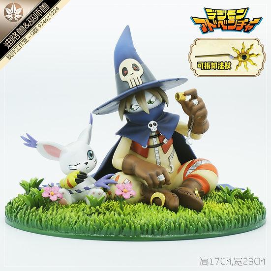 Qiu Ye Studio - Digimon Wizarmon & Gatomon