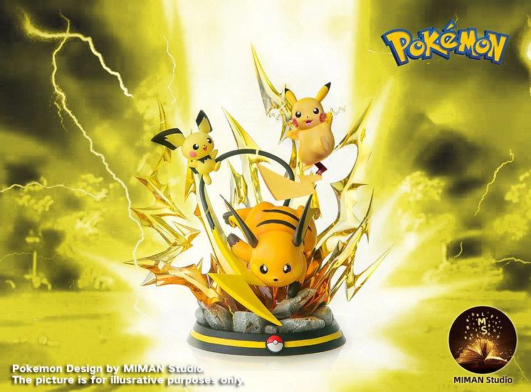 Miman Studio - Pikachu Evolution Series