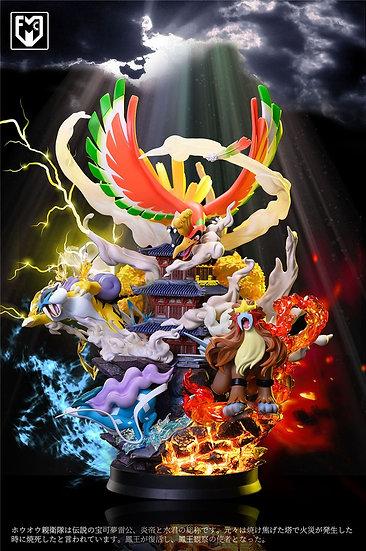 MFC Studio Legendary Pokemon Ho-Oh with Entei Raikou Suicune