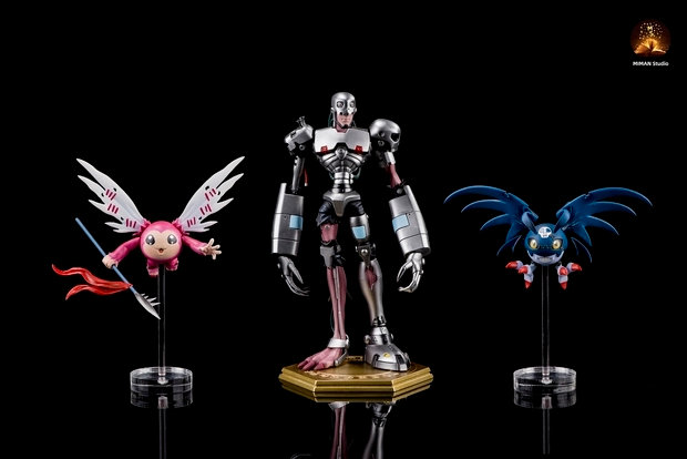 Miman Studio - Digimon Andromon, DemiDevimon, and Piximon