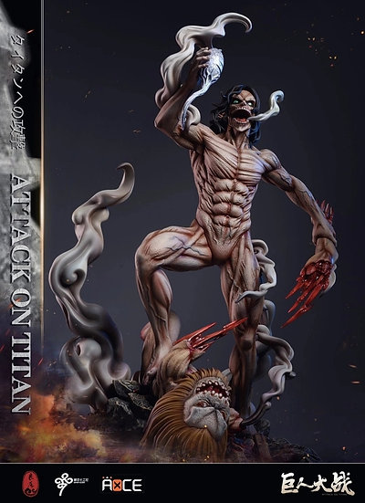 LC Studio Eren Attack Titan vs War Hammer & Jaw Titan
