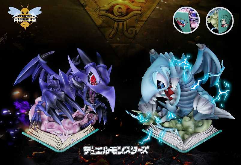 Wasp Studio -Yu-Gi-Oh Blue Eyes Toon Dragon & Red Eyes Toon Dragon