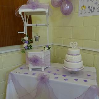 Lilac theme wishing well post box
