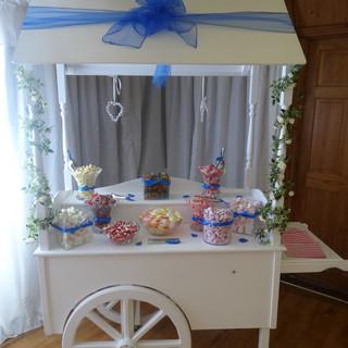 Royal blue sweet cart