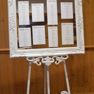 Table plan Vintage frame