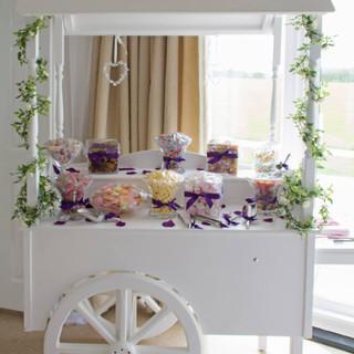 purple theme sweet cart