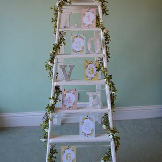 Vintage cream ladder