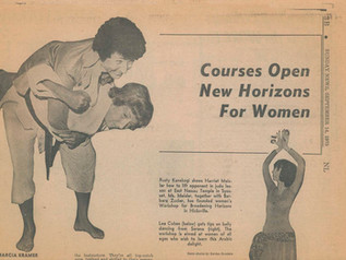 Throwback Thursday 1975 article titled:  Courses Open New Horizons For Women