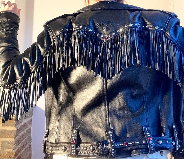 JACK DANIELS Genuine Leather Biker Jacket
