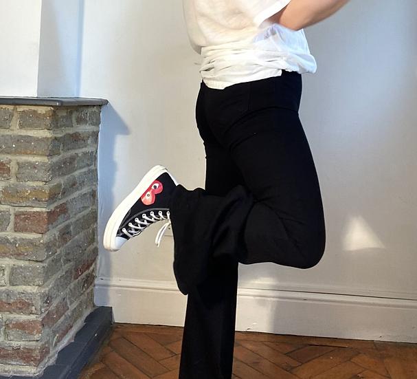 Black Slim-Fit Flares