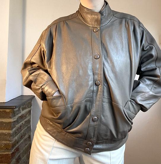 VINTAGE Slouchy Leather Jacket