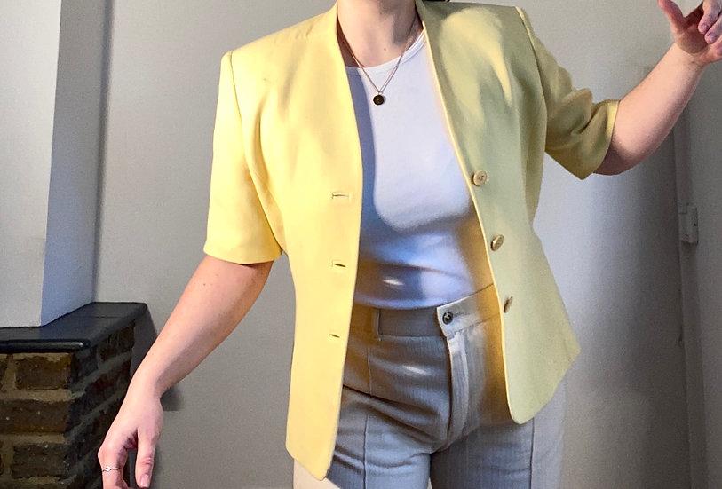 VINTAGE Shoulder Pad Crop Jacket