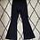 Thumbnail: Black Slim-Fit Flares